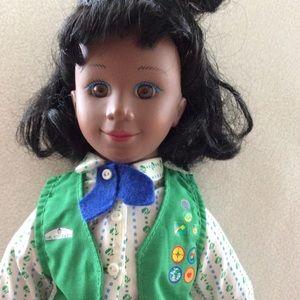 Vintage Girl Scout Doll in Original uniform 1995